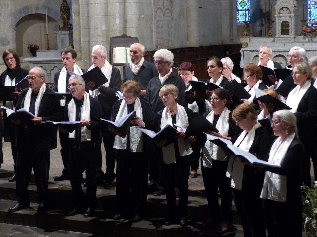 Cantate en FA en concert commun avec la chorale de Prondines - Herment, 6 juin 2018