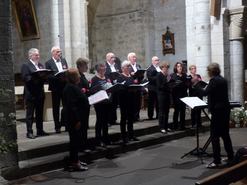 """la chorale """"A travers chants"""" de Prondines en concert commun avec Cantate en FA"""