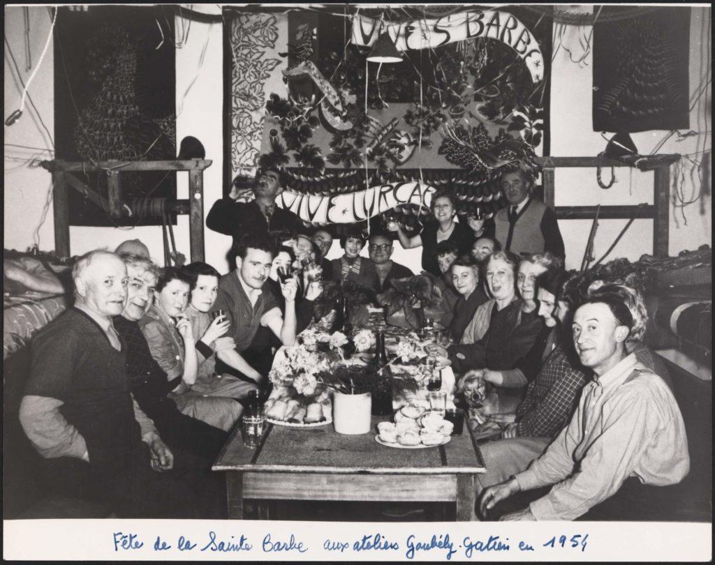 La fête de la Sainte-Barbe aux ateliers Goubely-Gatien, 1954.
